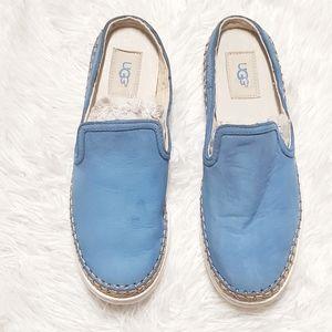 UGG Blue Leather Espadrilles Slipons